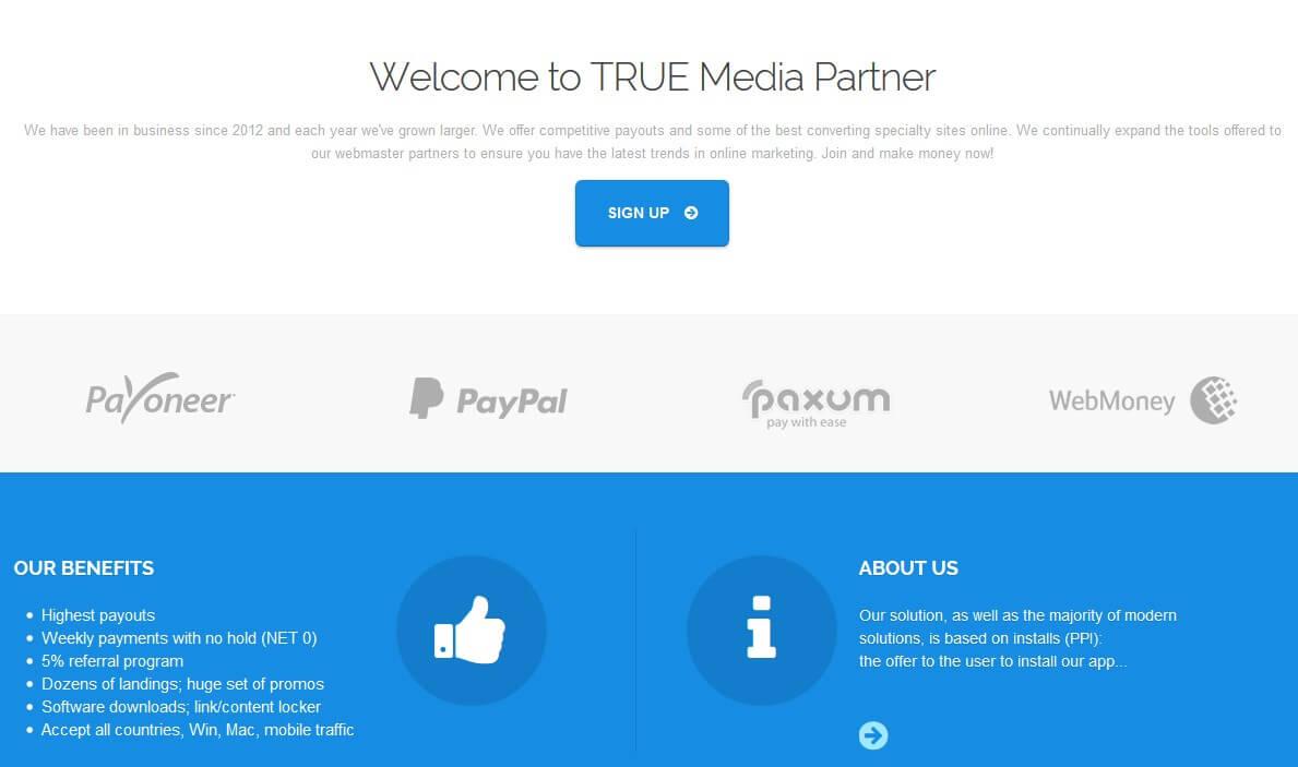 truemediapartner способы вывода средств с партнерской программы