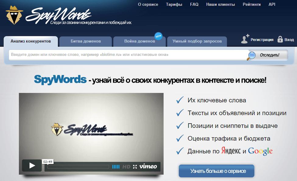 SpyWords обзор сервиса