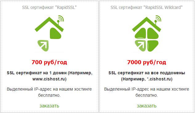 CISHost сертификаты