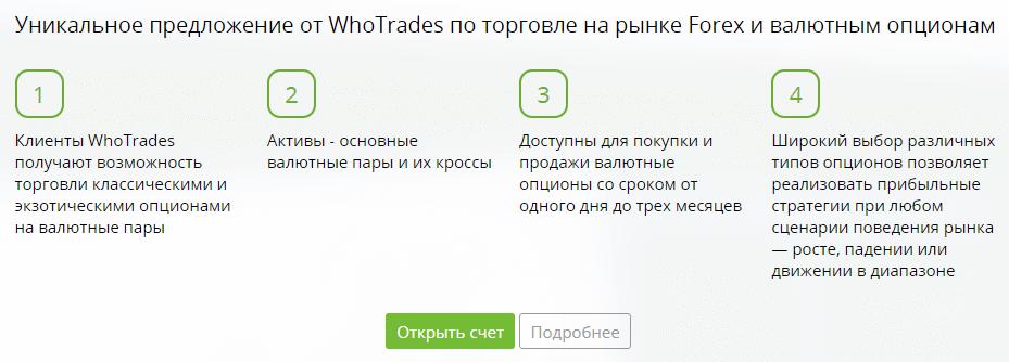 WhoTrades валютные опционы